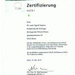 AGUB I - Zertifizierung