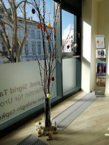 dieses Foto zeigt das Wartezimmer der Urologischen Praxis Dr. Sigrid Tapken